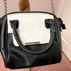 black and white handbag & crossbody